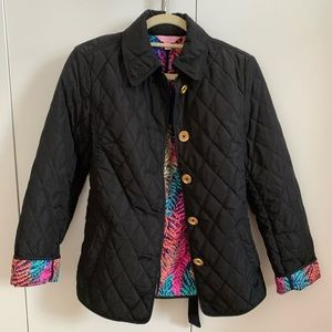 Lilly Pulitzer black quilted jacket